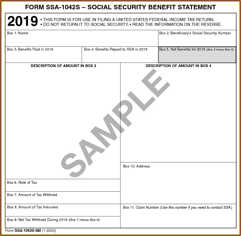 Social Security Benefits Form 1040