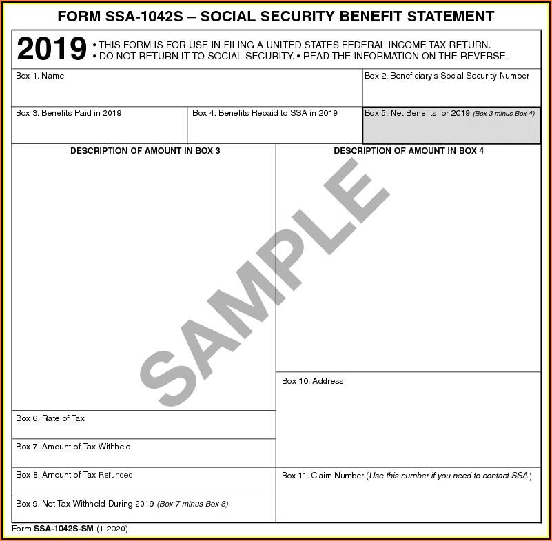 Social Security Benefits Form 1040