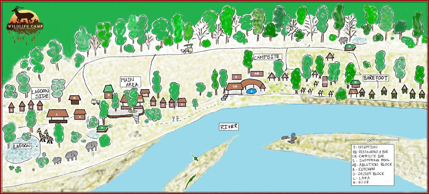 South Luangwa Lodges Map