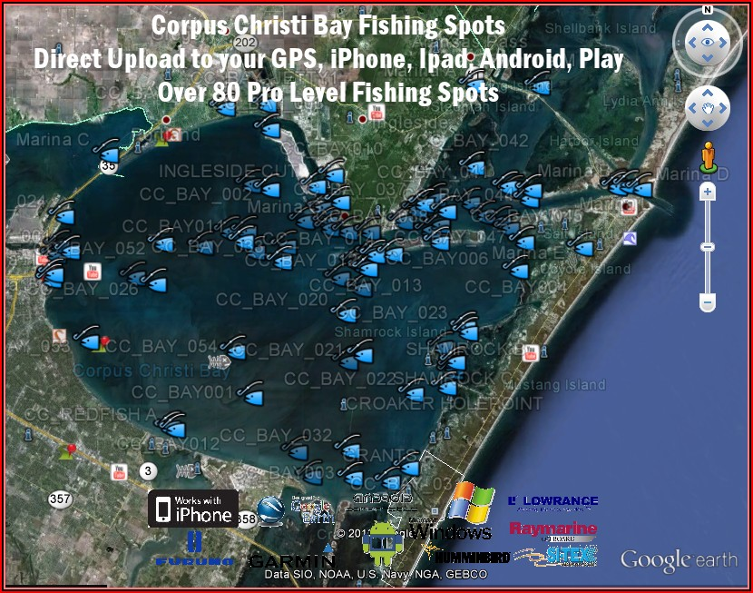 South Texas Coastal Fishing Maps