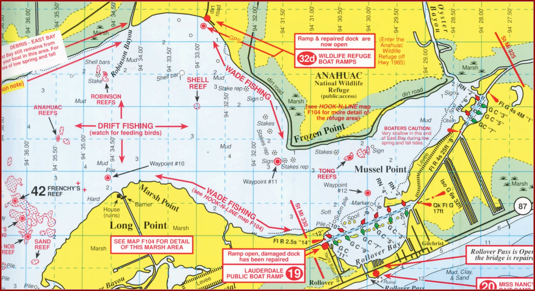 South Texas Saltwater Fishing Maps