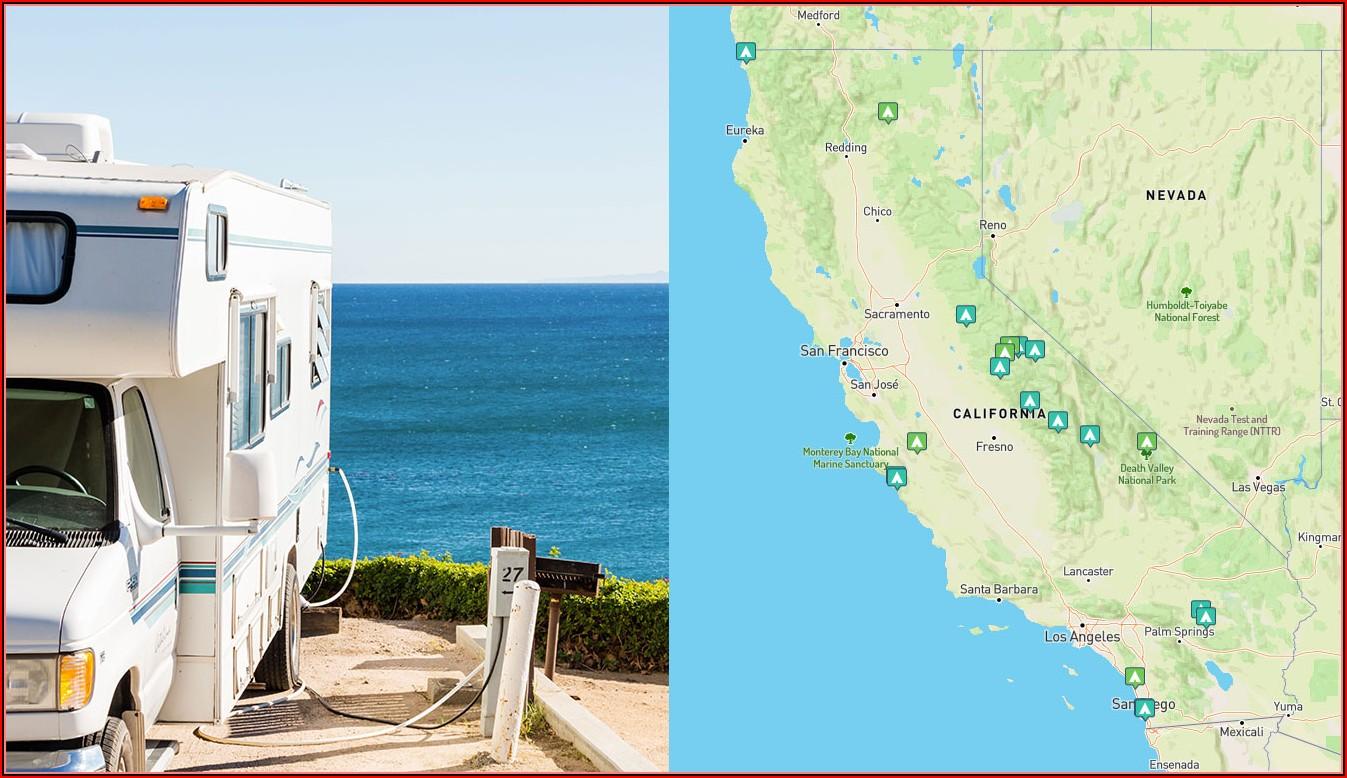 Southern California Rv Park Map