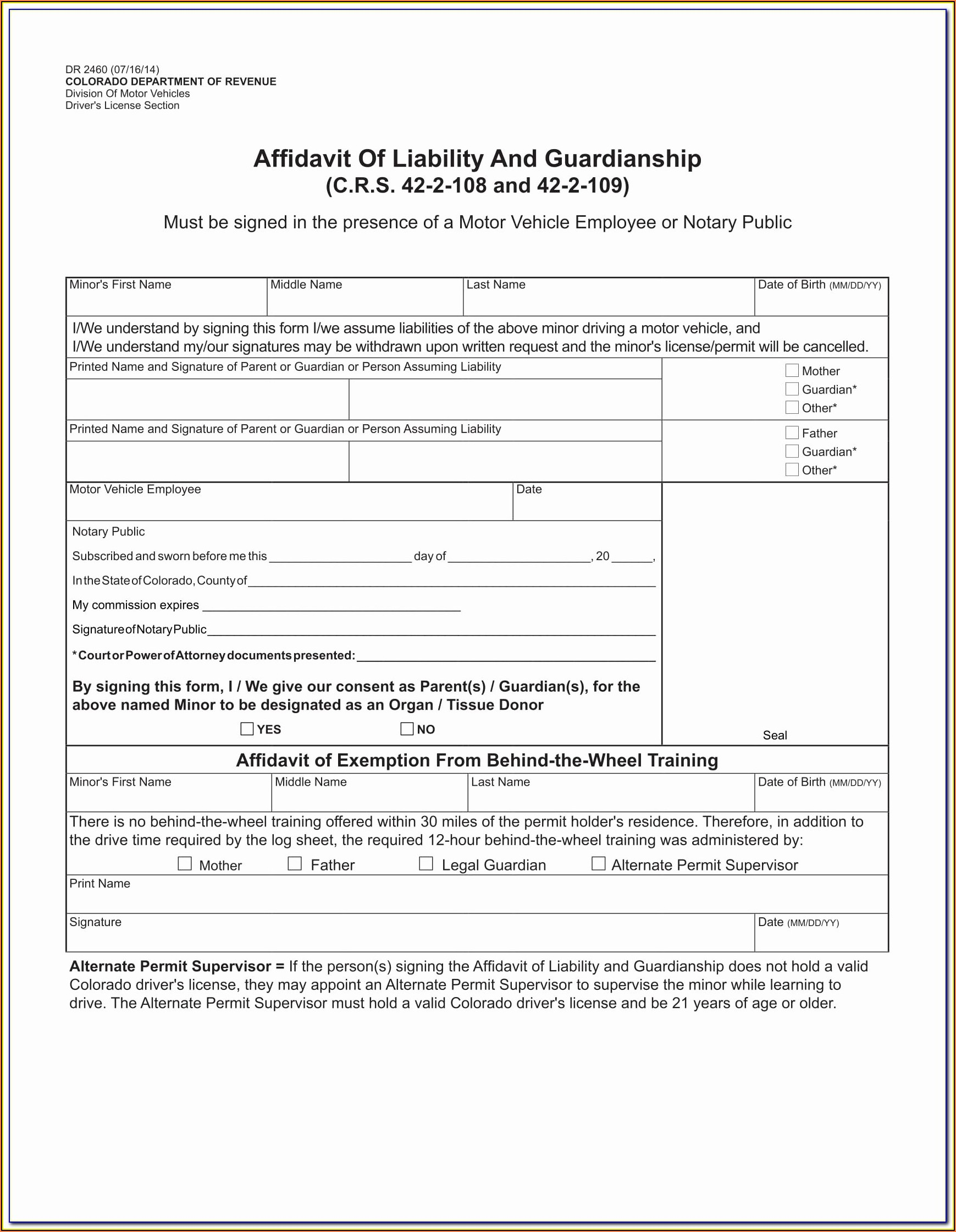 Temporary Guardianship Forms Nj