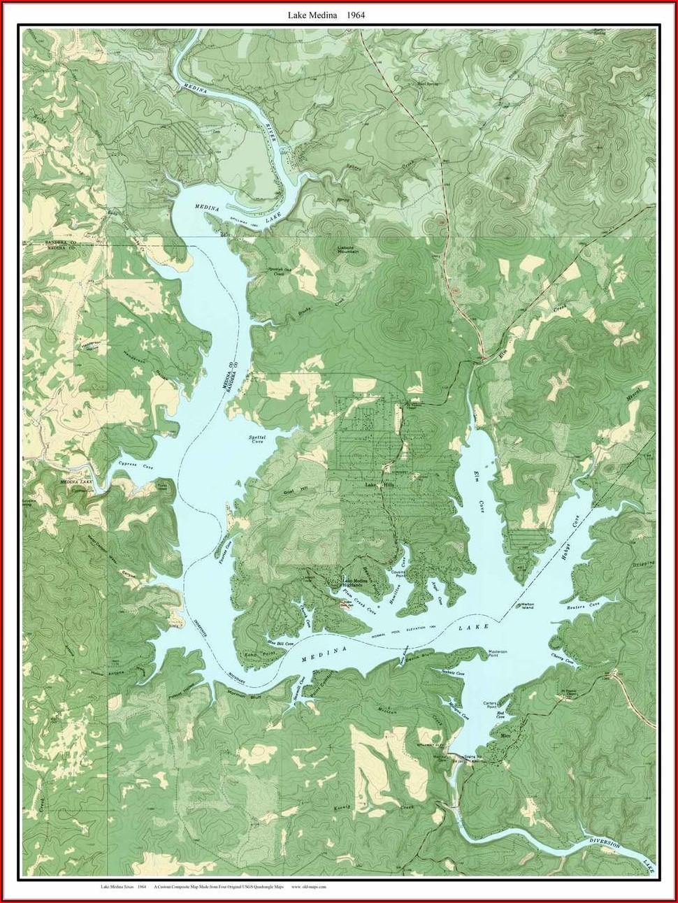Texas Lake Topo Maps