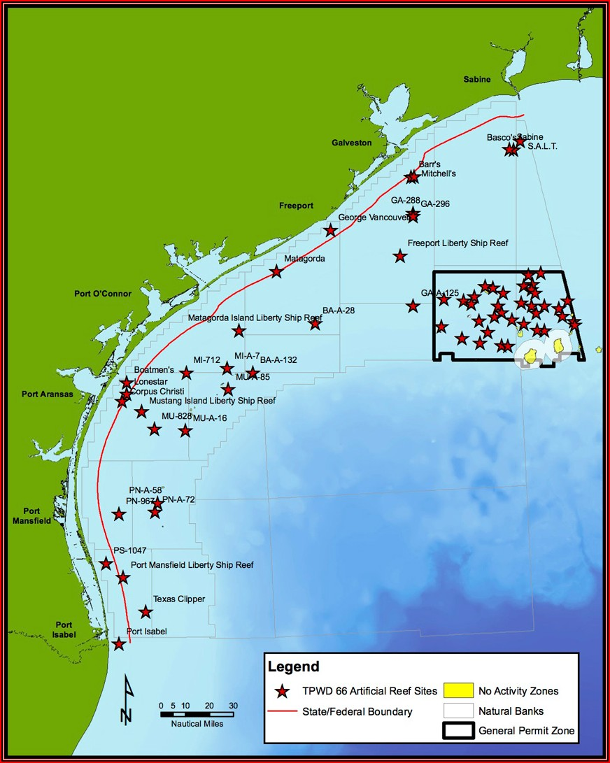 Texas Offshore Fishing Maps