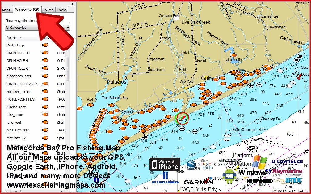 Texas Saltwater Fishing Maps