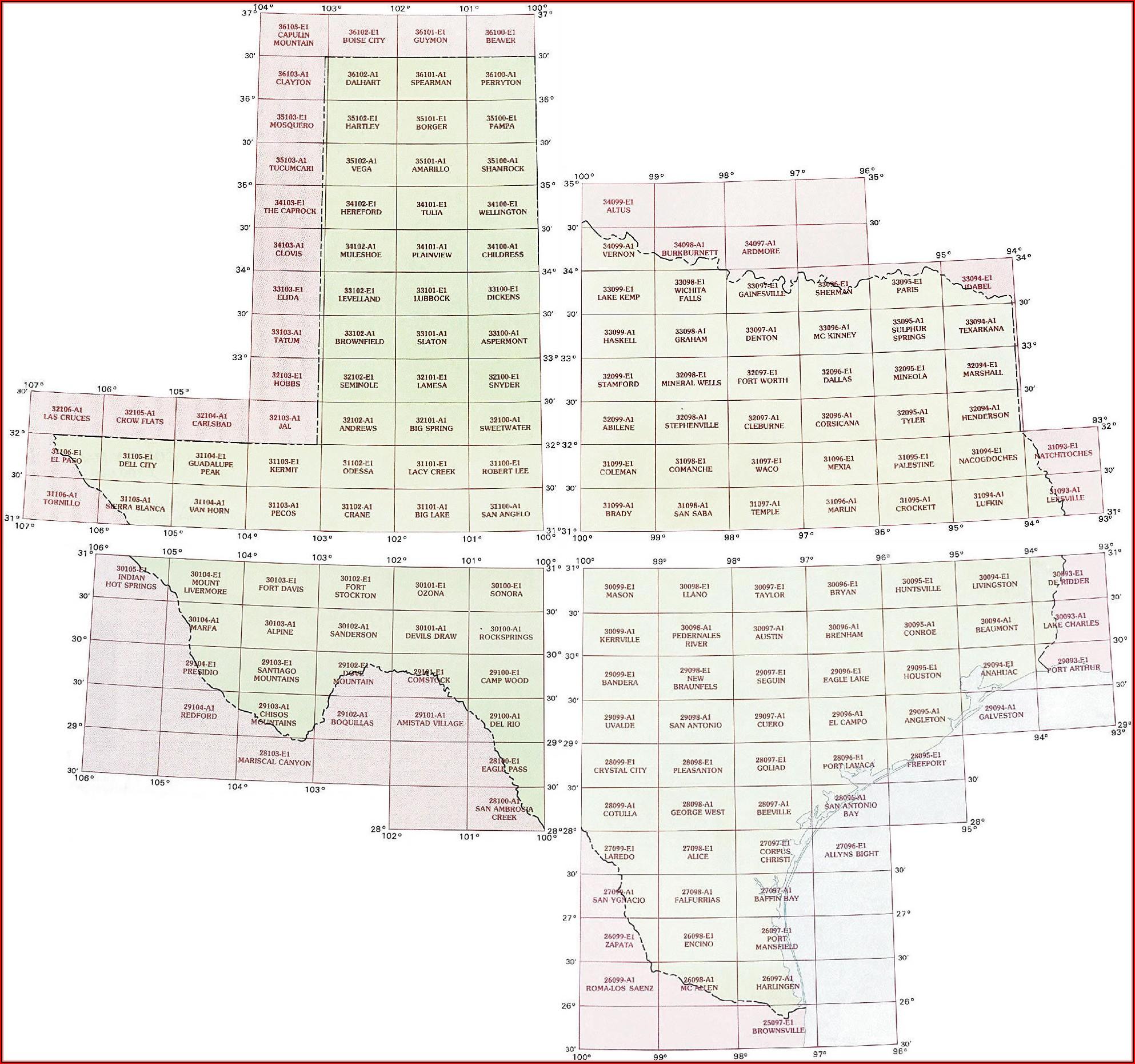 Texas Topo Maps Usgs
