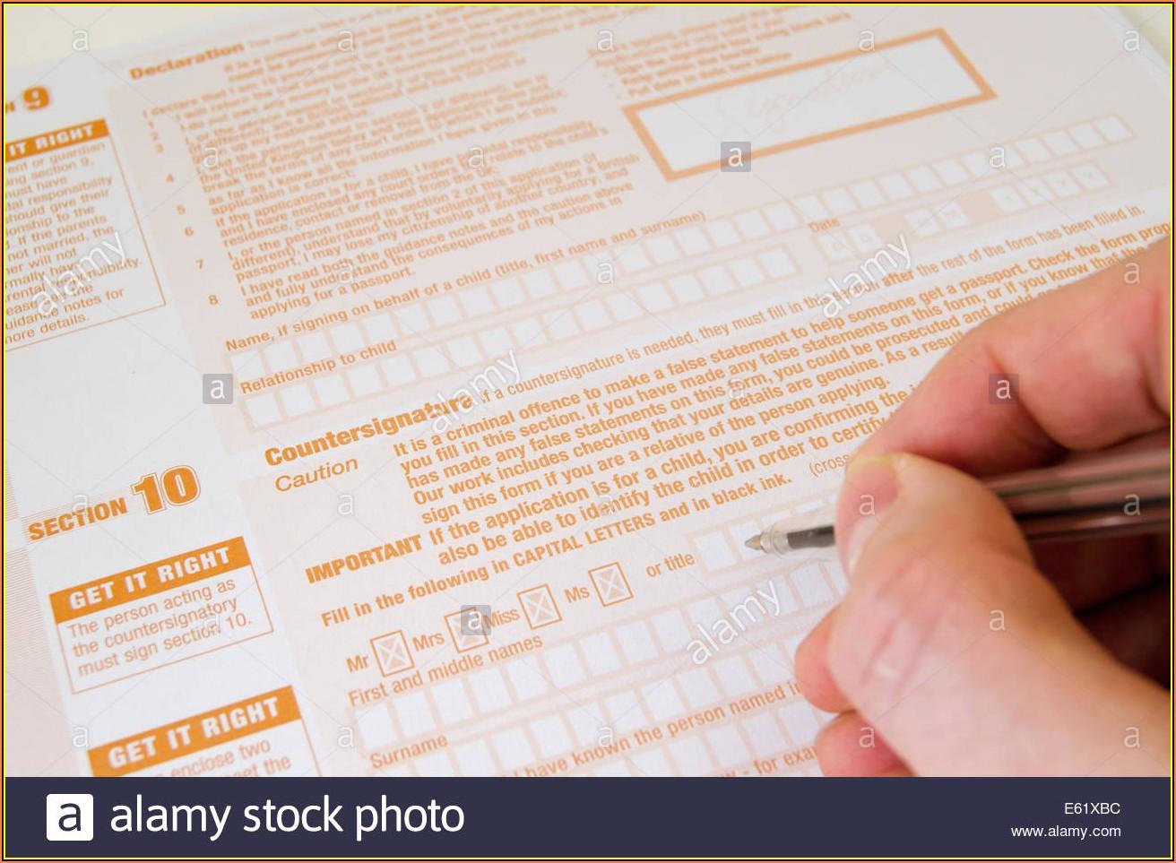 Uk Child Passport Renewal Form Download