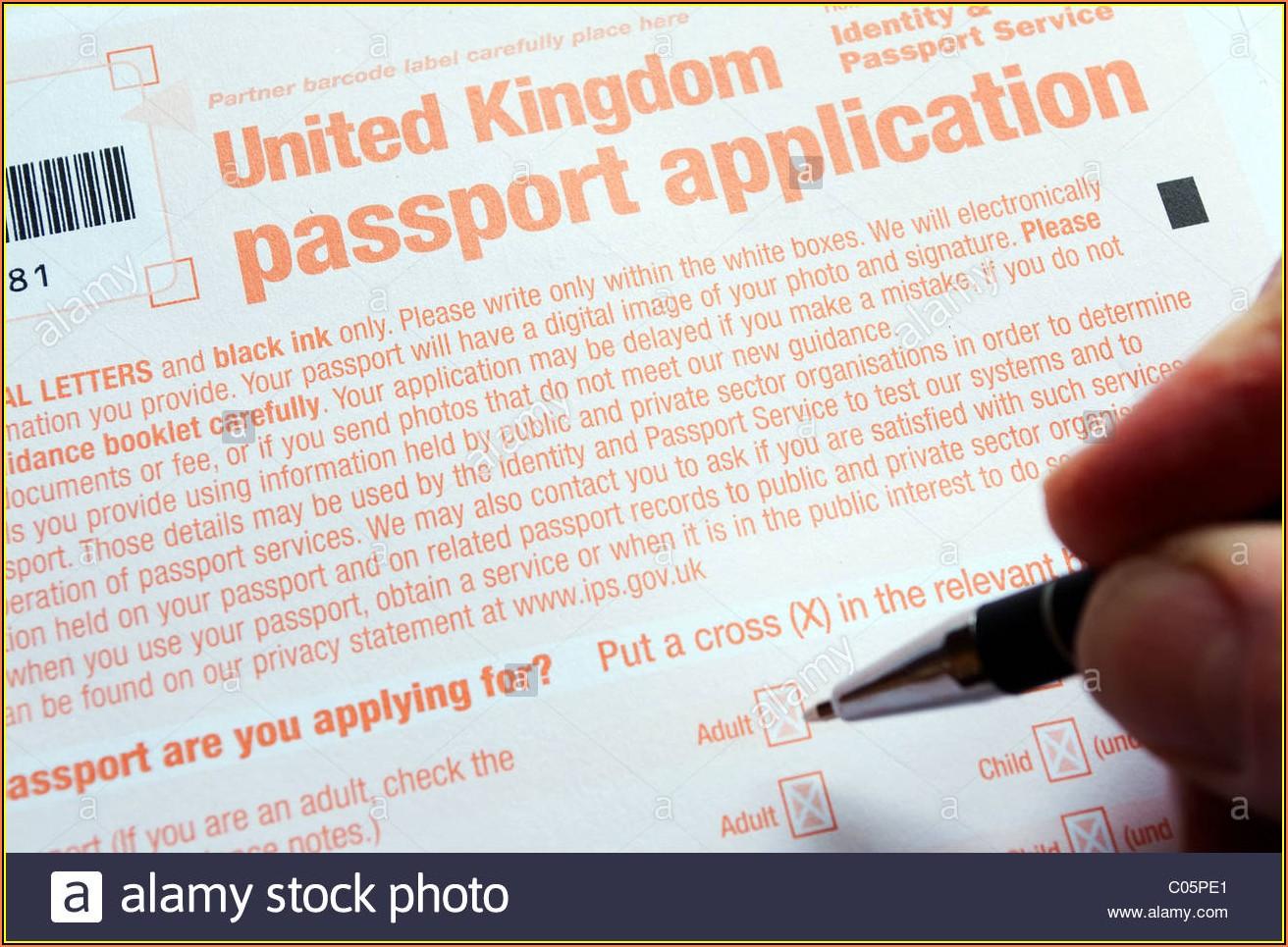 Uk Passport Renewal Application Form Download Pdf