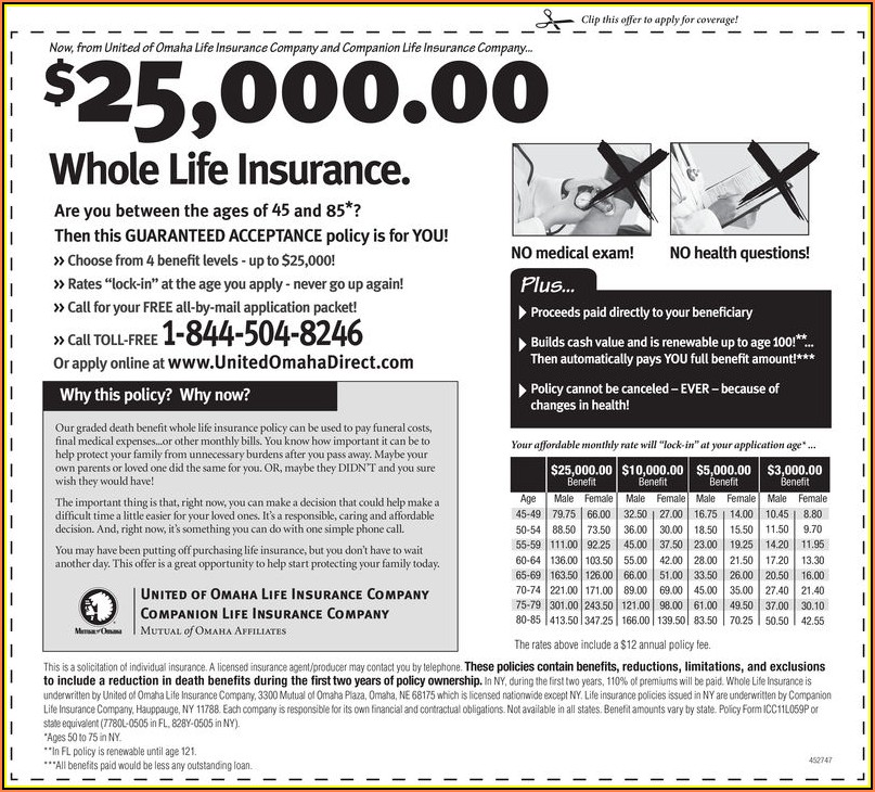 United Of Omaha Life Insurance Company Enrollment Form
