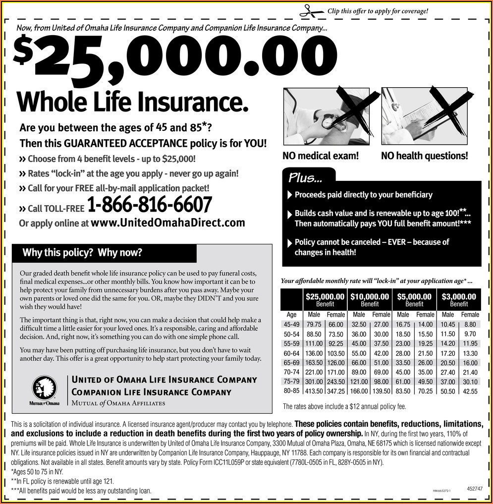 United Of Omaha Life Insurance Enrollment Form
