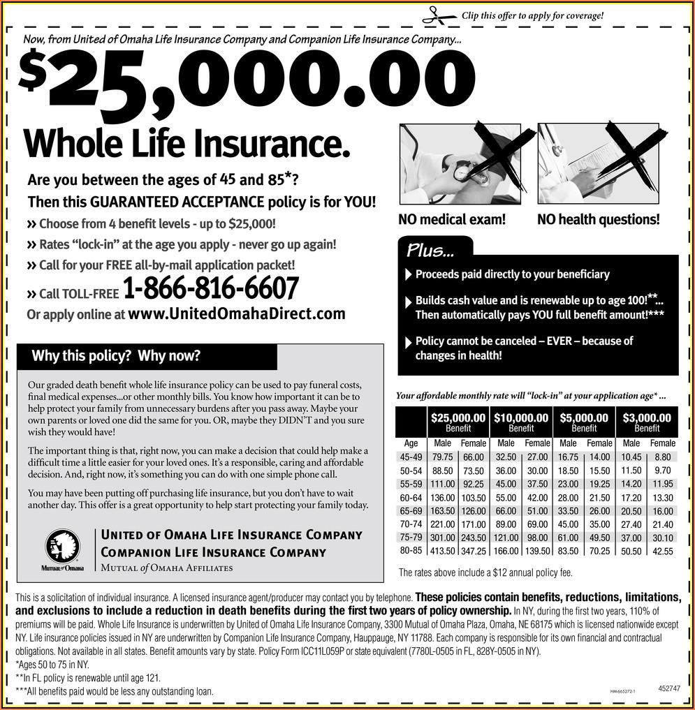 United Of Omaha Life Insurance Enrollment Form