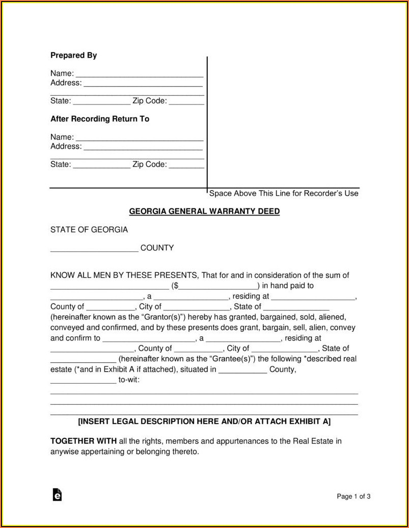 Warranty Deed Texas Form Free