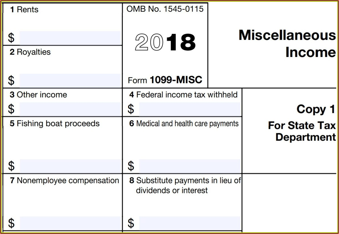 What Is A 1099 Tax Form Printable