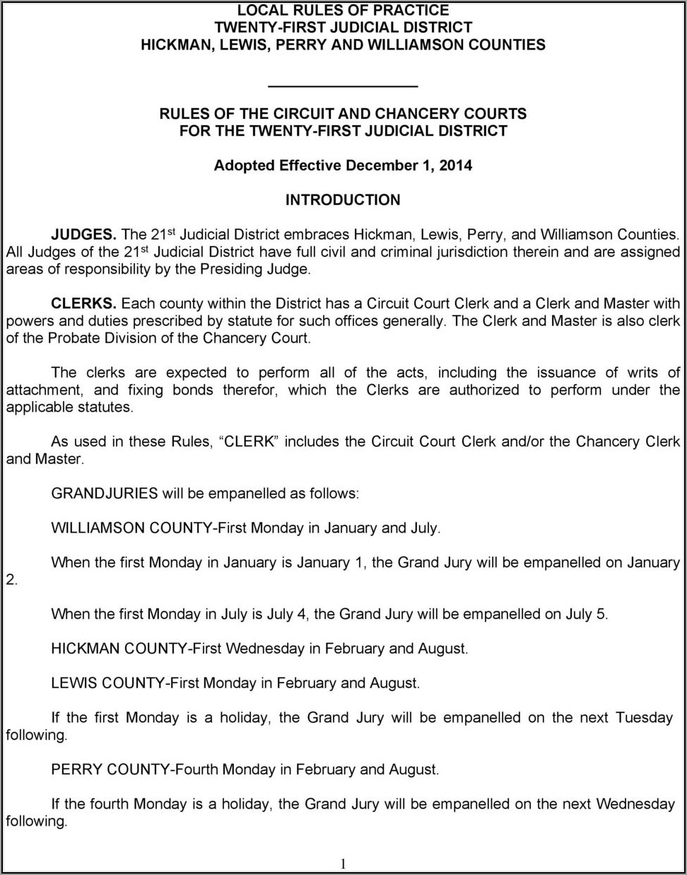 Williamson County Chancery Court Forms
