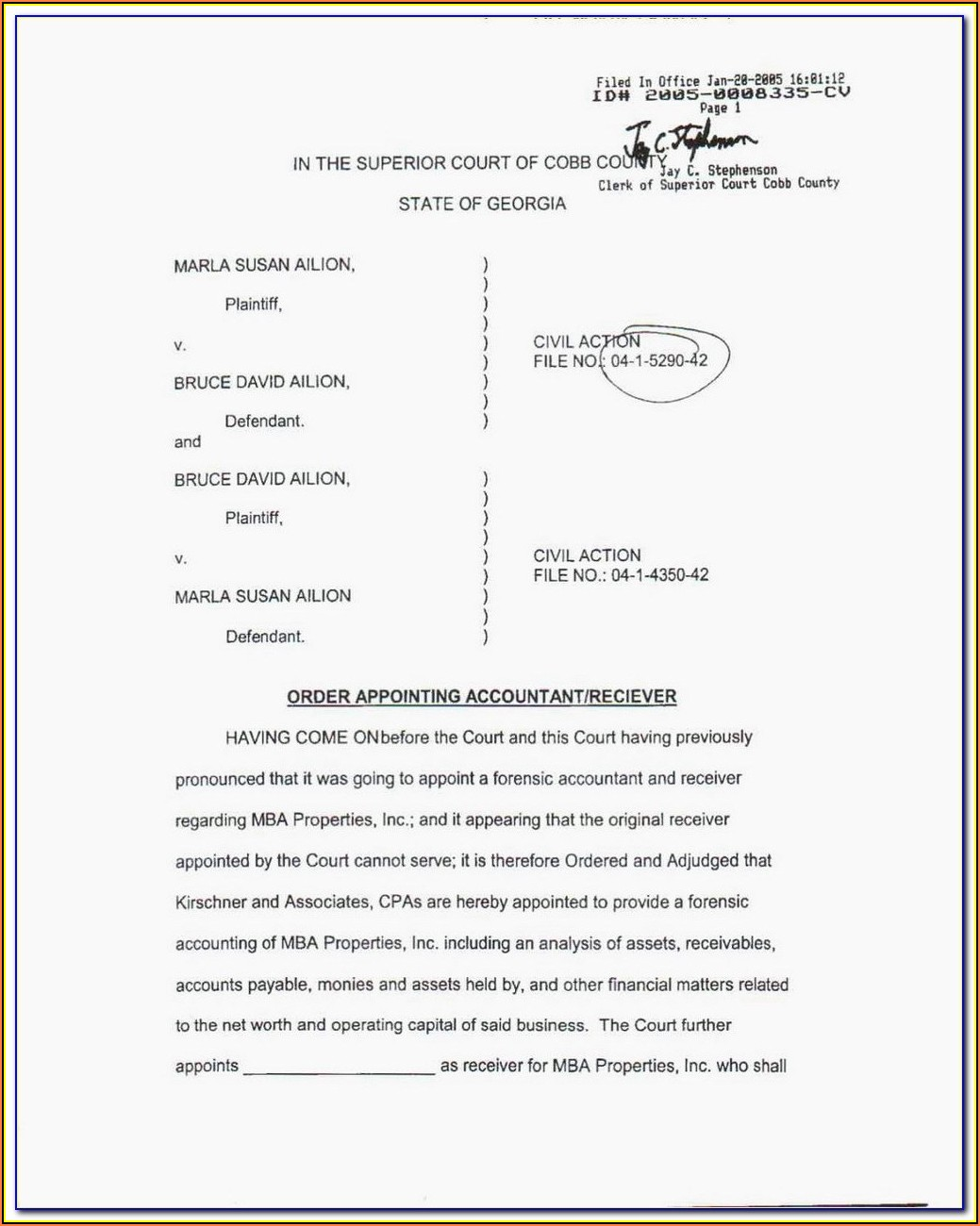 Williamson County Divorce Paperwork
