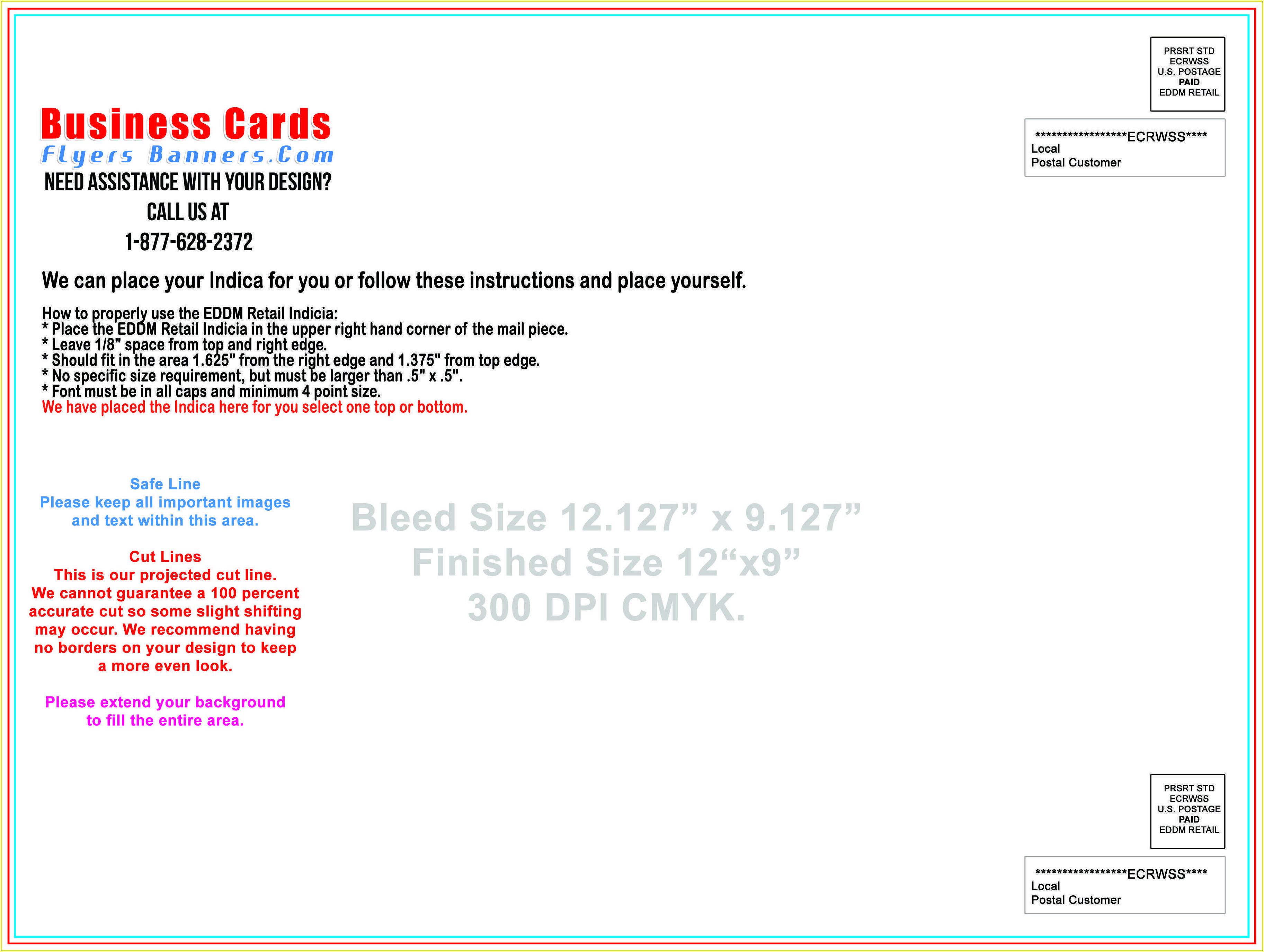 Eddm Postcard Template Usps