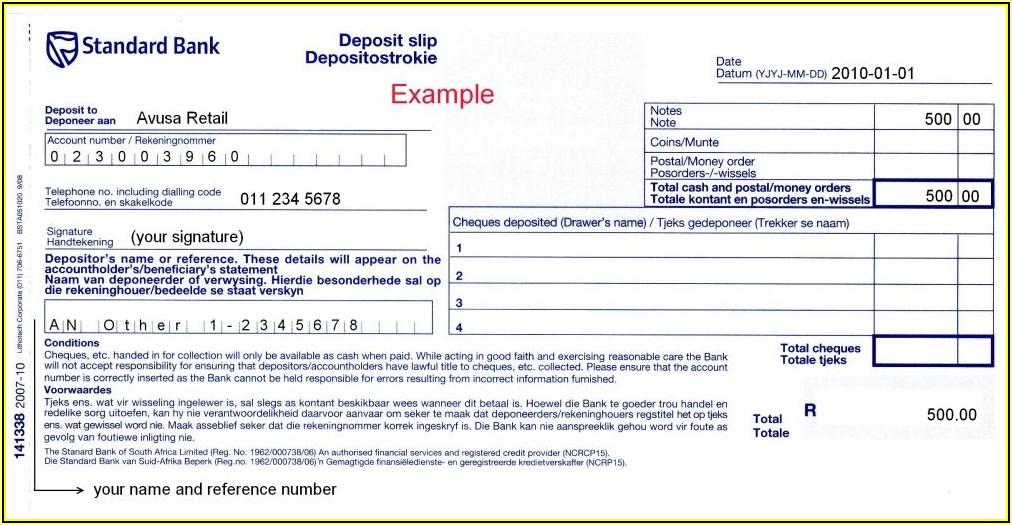 Edit Quickbooks Deposit Slip Template