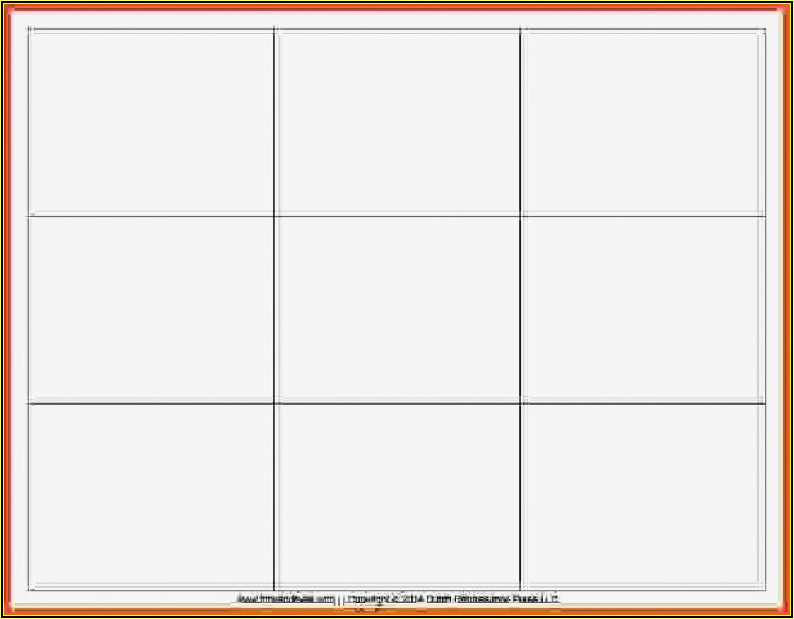Editable Blank Flash Card Template