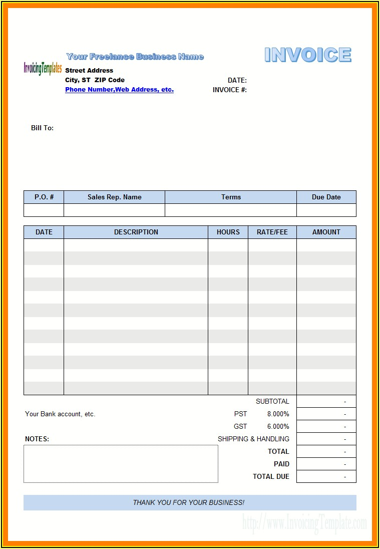 Electrical Invoice Template Uk
