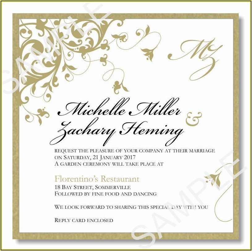 Elegant Invitation Template Word