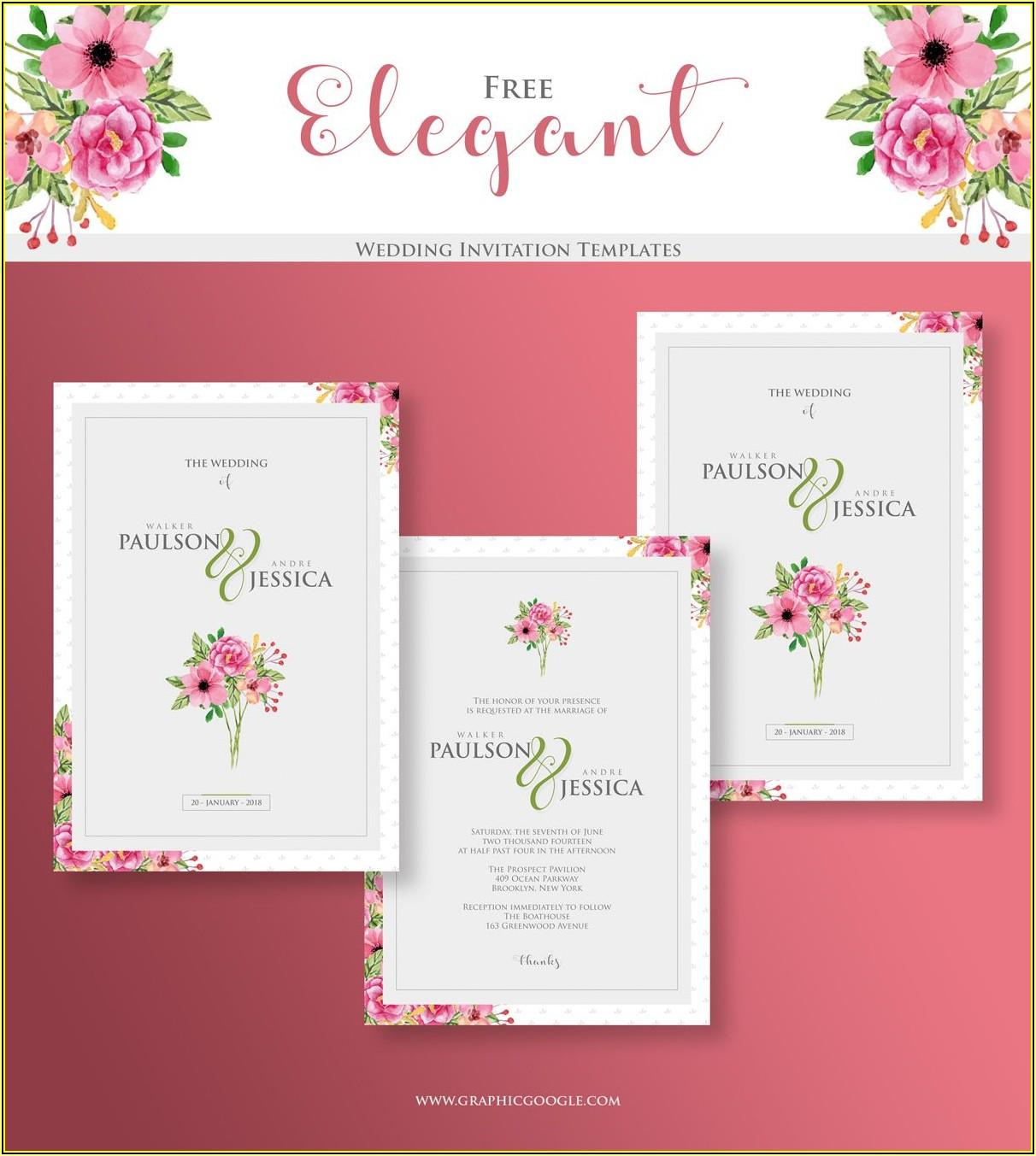 Elegant Invitation Templates Free