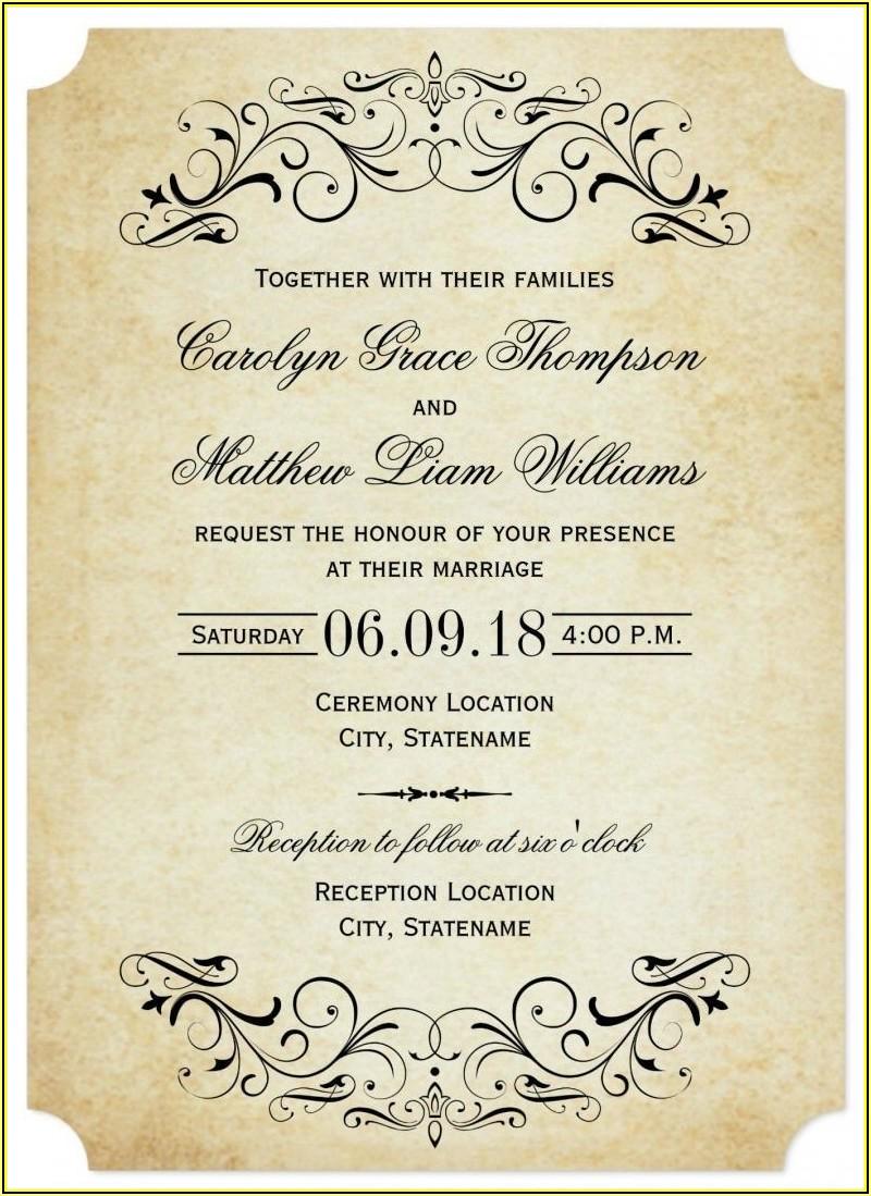 Elegant Wedding Invitation Templates Free Download