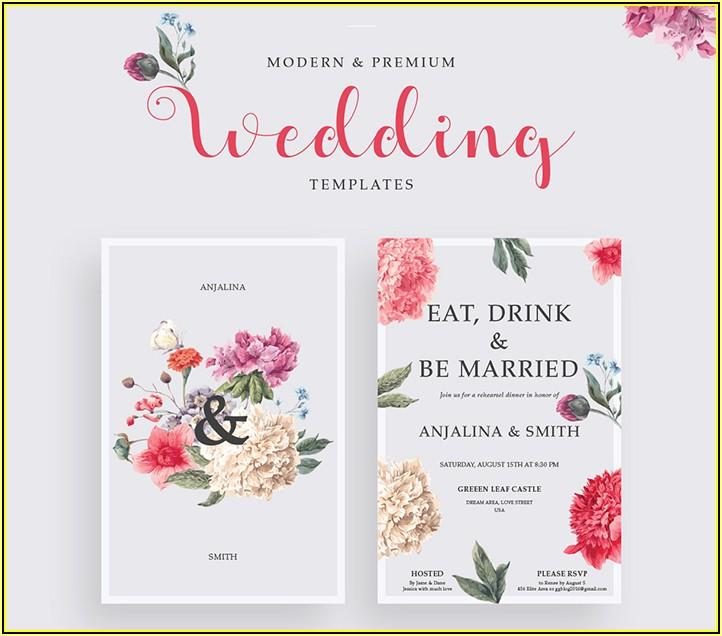 Elegant Wedding Invitation Templates Free