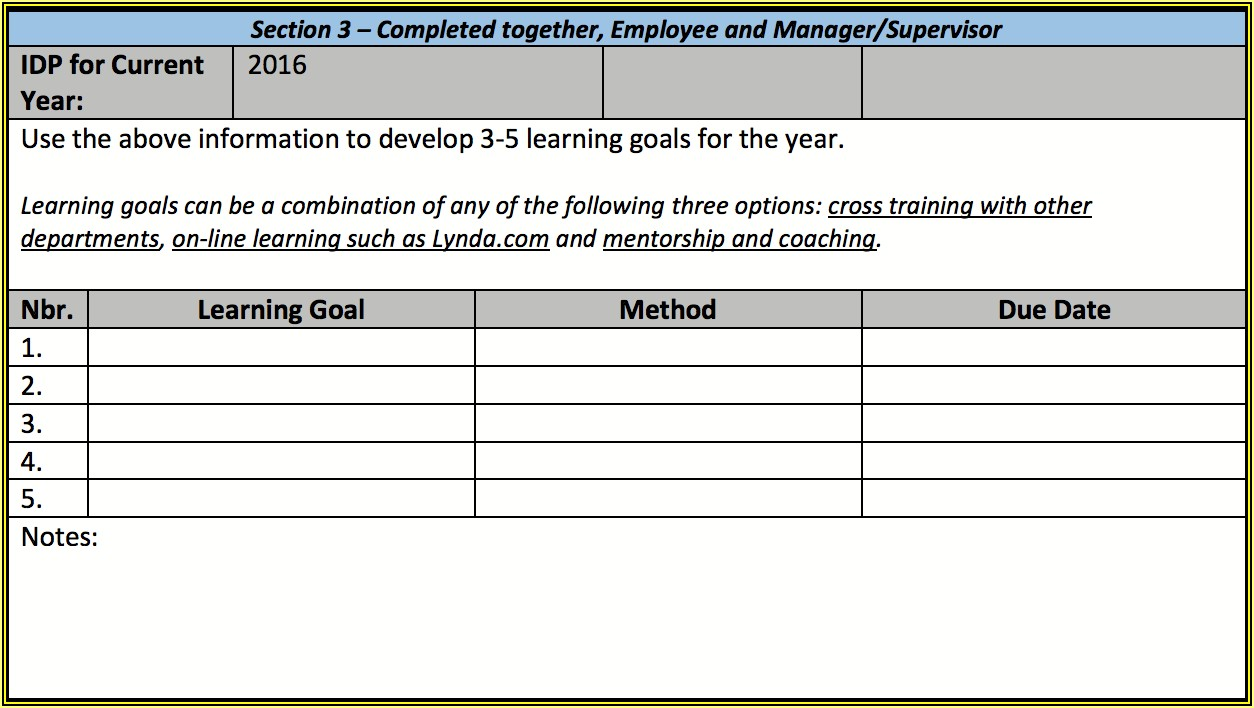 Employee Cross Training Plan Template Excel