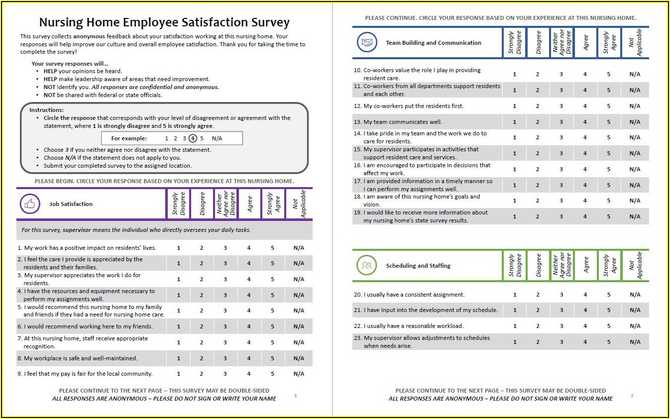 Employee Satisfaction Survey Template Excel