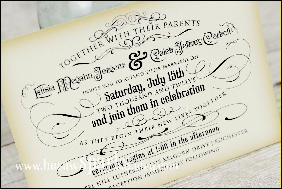 Etsy Free Wedding Invitation Templates