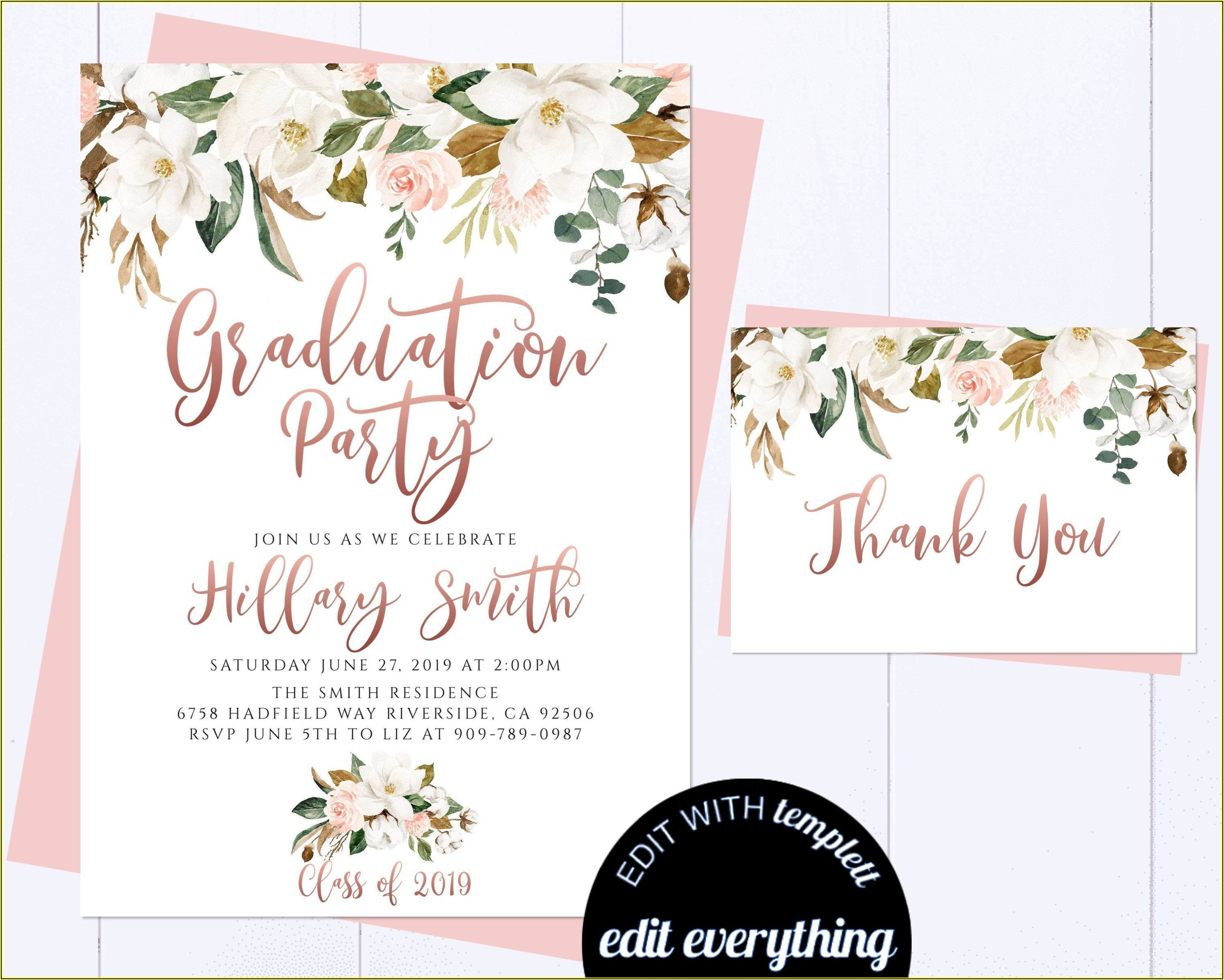 Etsy Graduation Invitation Templates