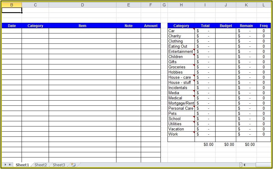 Expense Tracker Excel Template