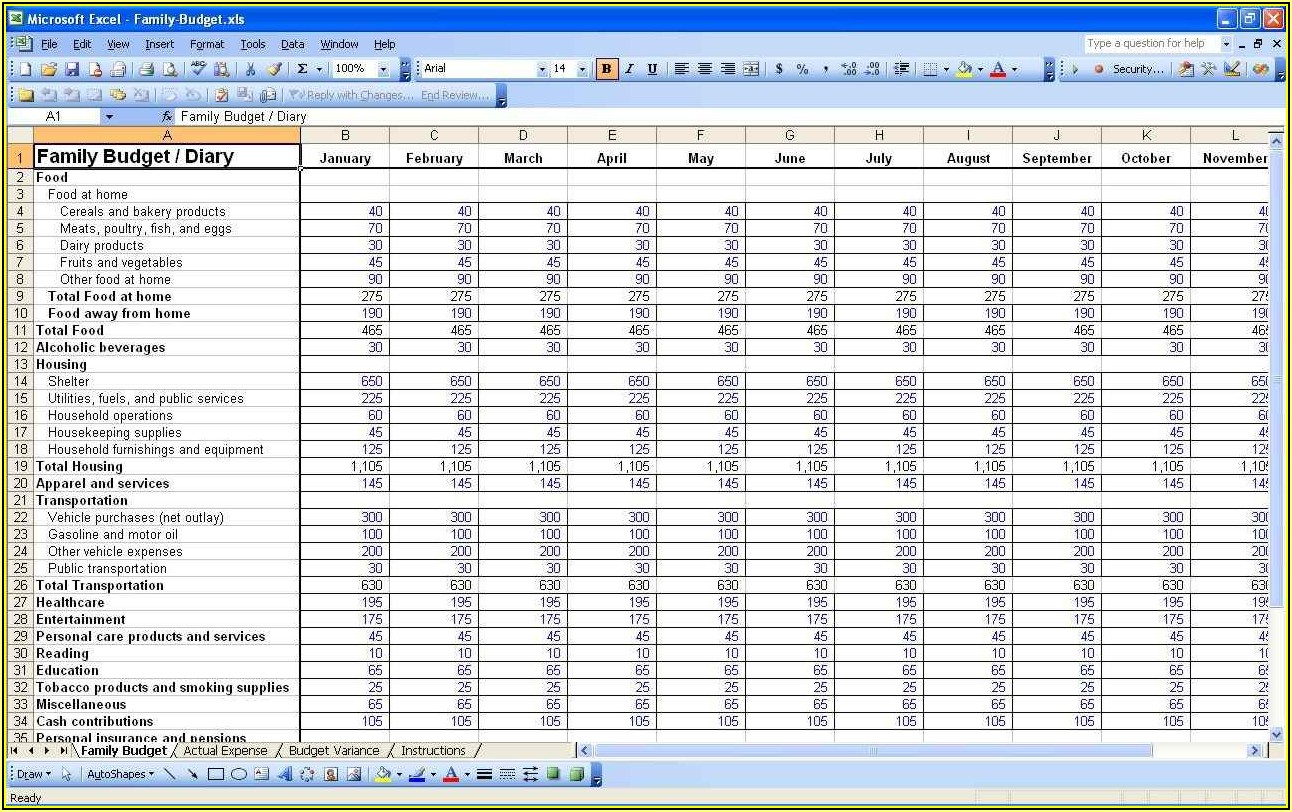 Expenses Tracker Excel Template