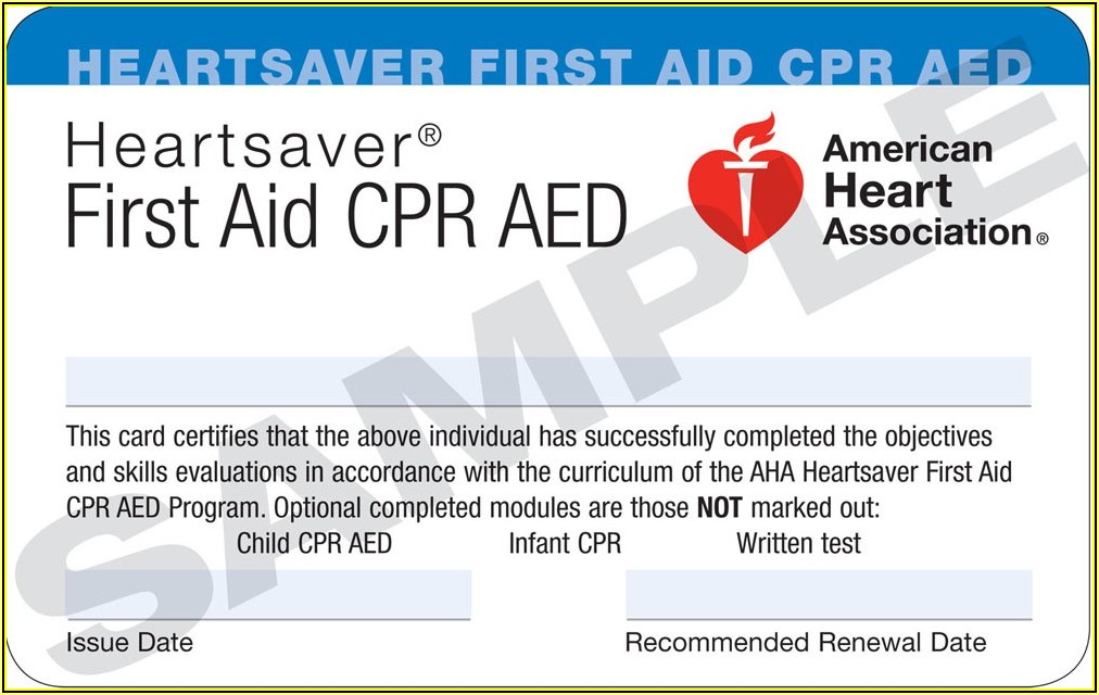 Fake Cpr Card Template