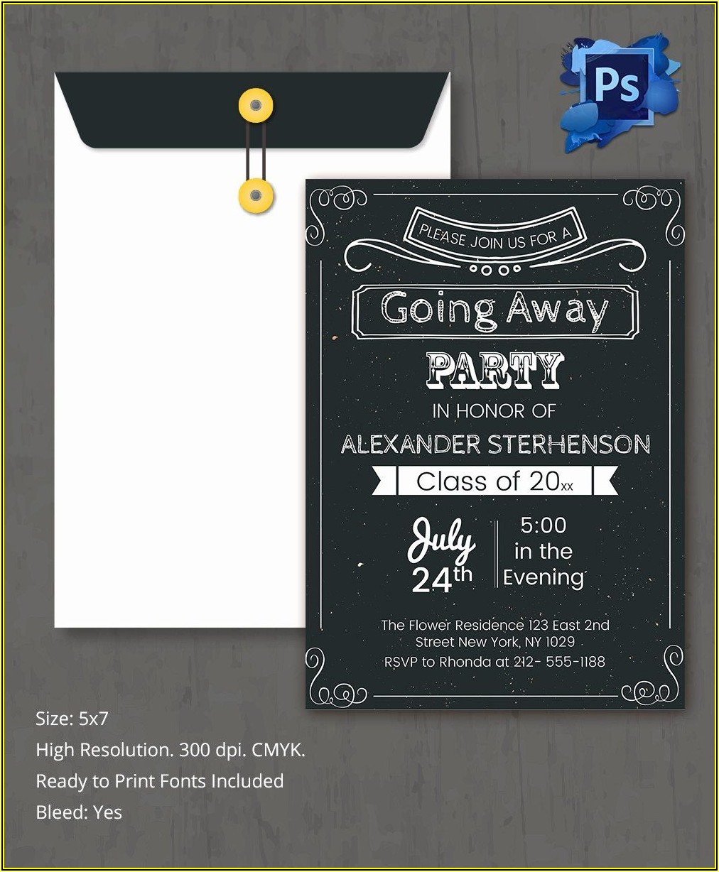Farewell Invitation Template Free