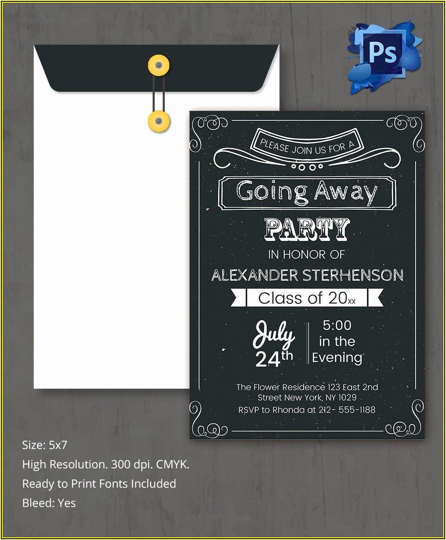 Farewell Invitation Template Free