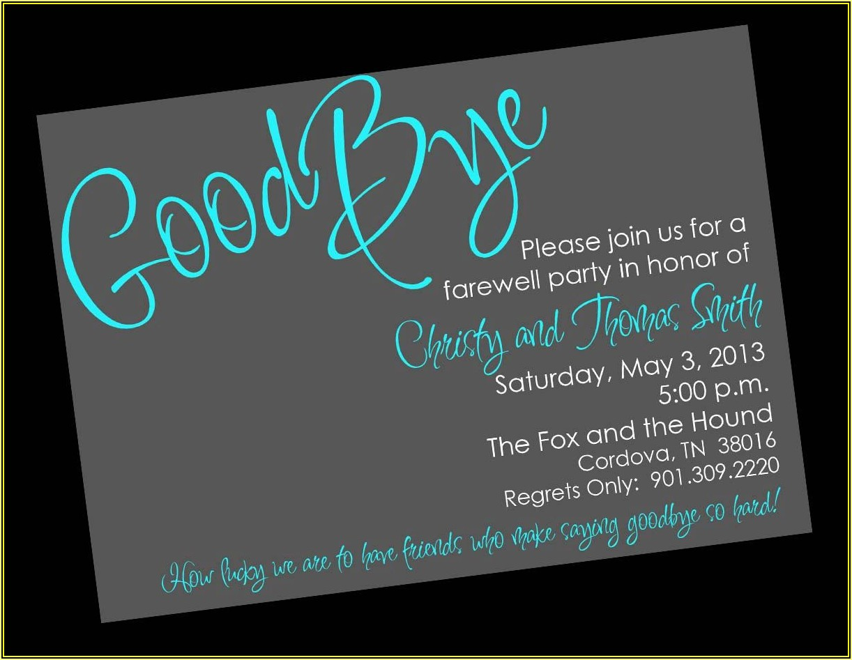 Farewell Lunch Invitation Template Free
