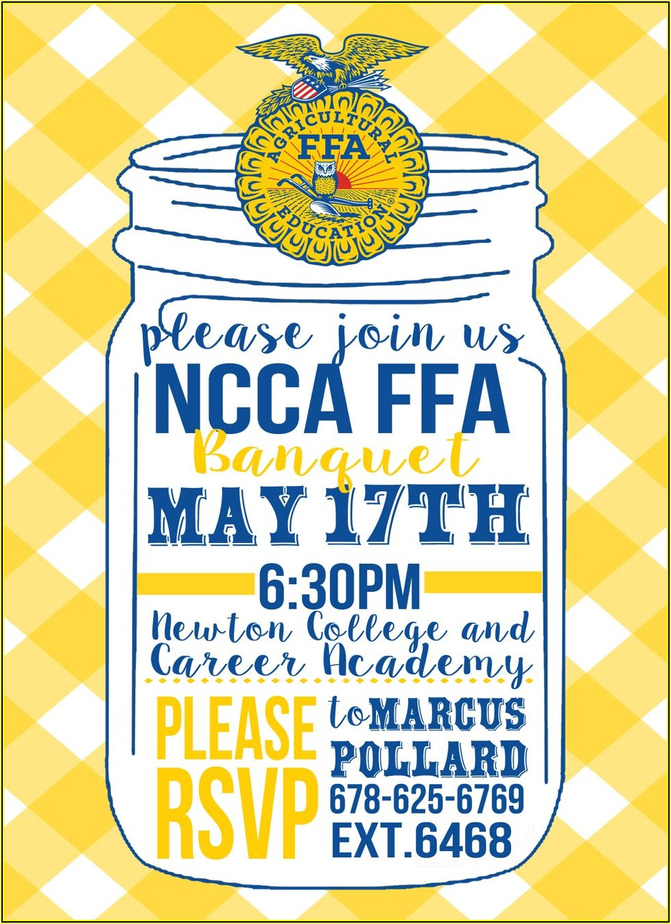 Ffa Banquet Invitation Templates