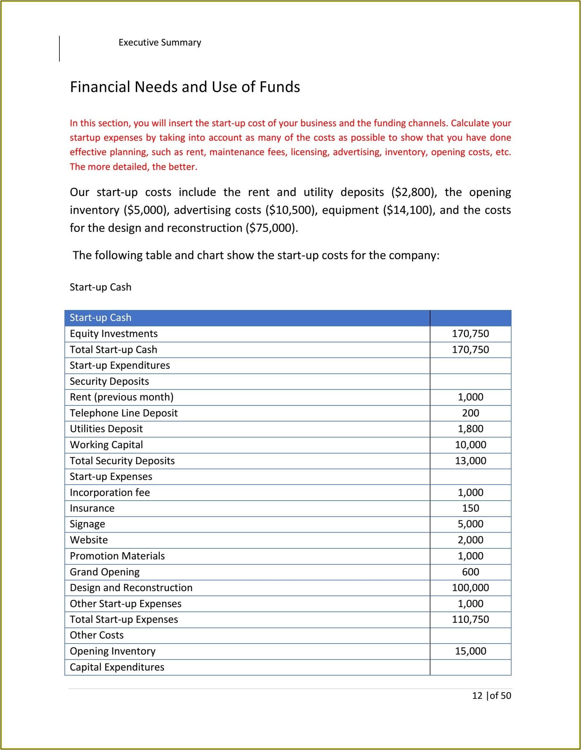 Financial Strategic Plan Template Excel