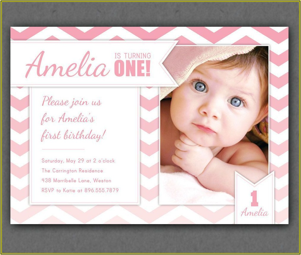 First Birthday Invitation Templates Online