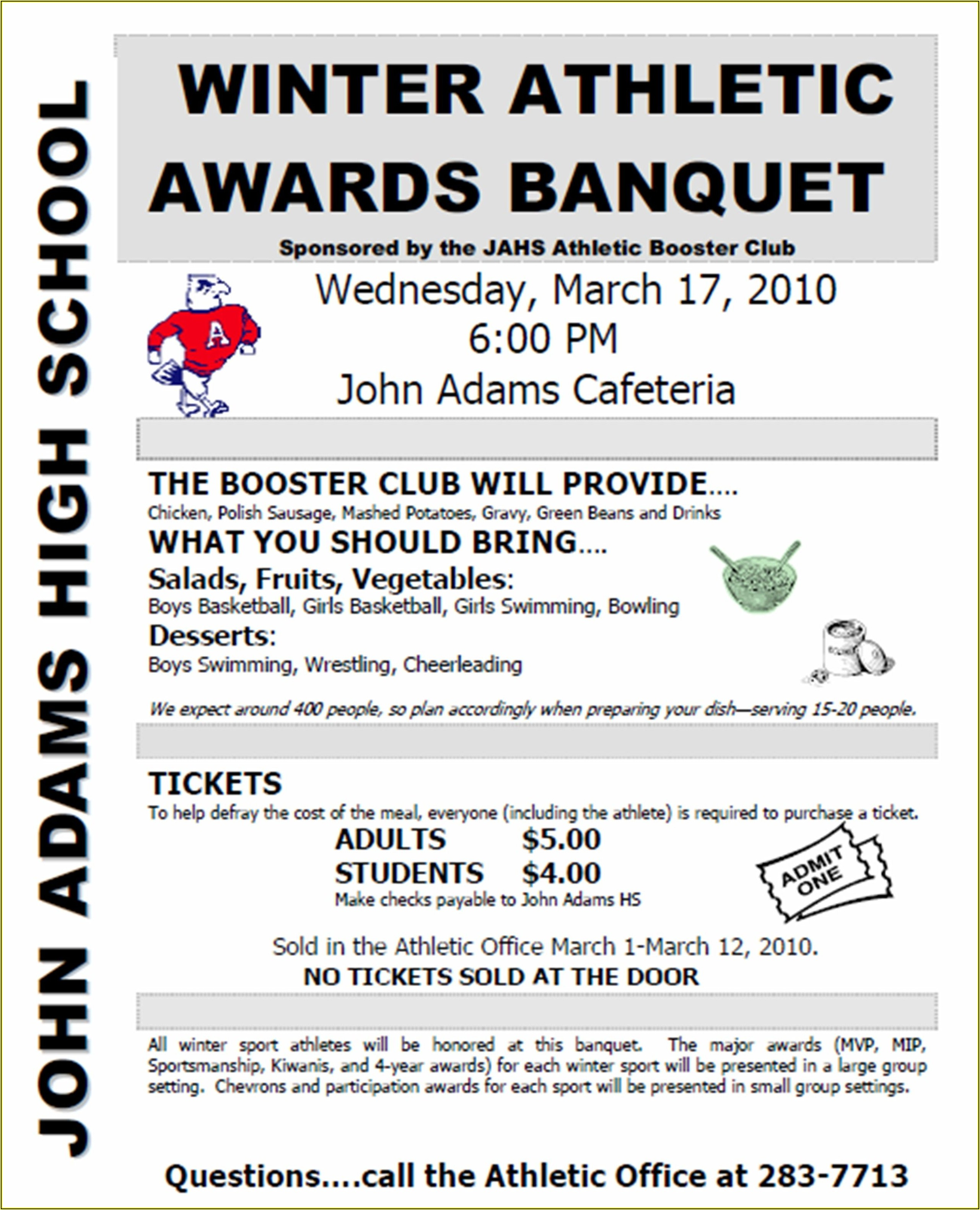 Football Banquet Invitation Template Free