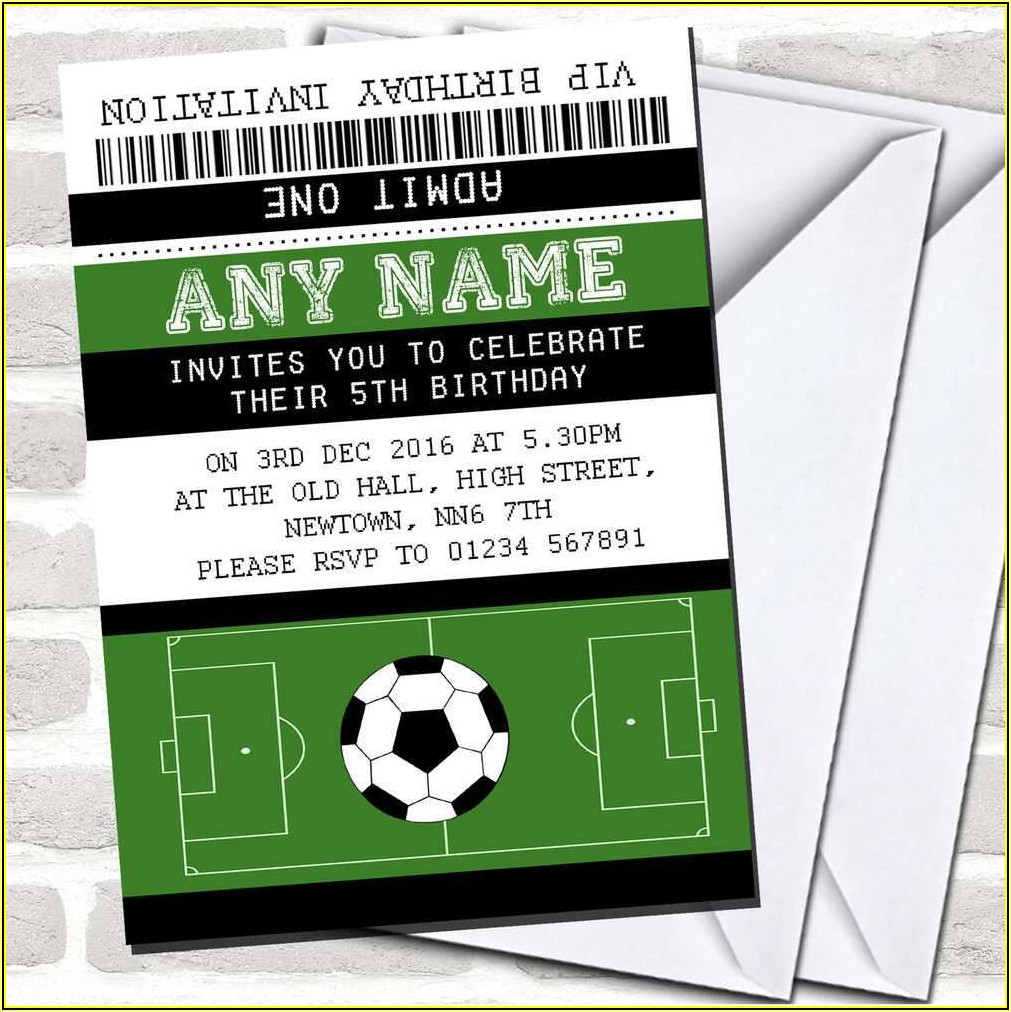 Football Party Invitation Free