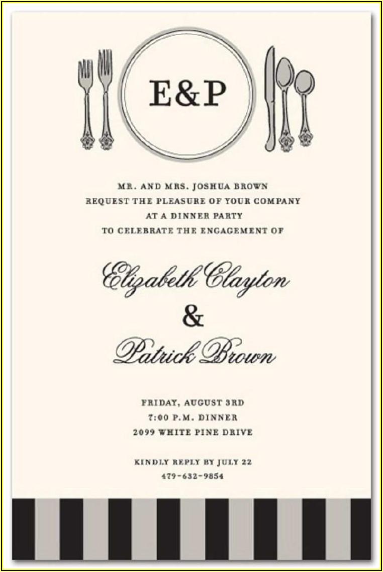 Formal Dinner Invitation Template Free