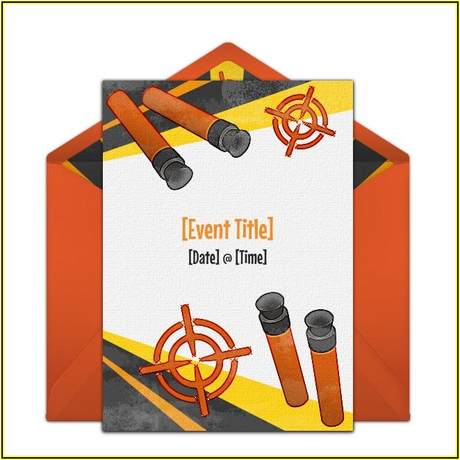 Free Birthday Invitation Nerf Templates