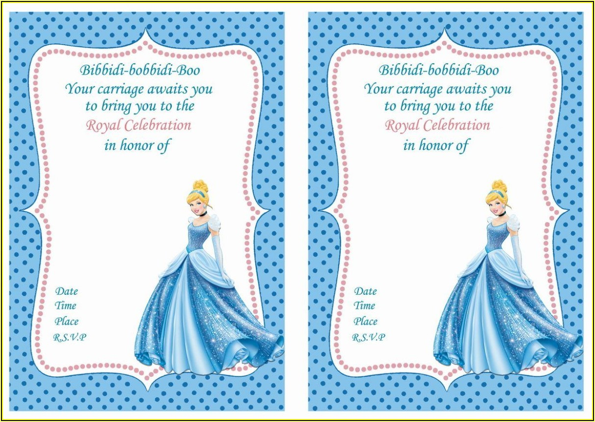 Free Cinderella Birthday Invitation Template