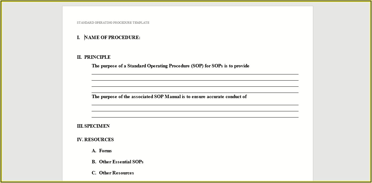 Free Company Policies And Procedures Template South Africa
