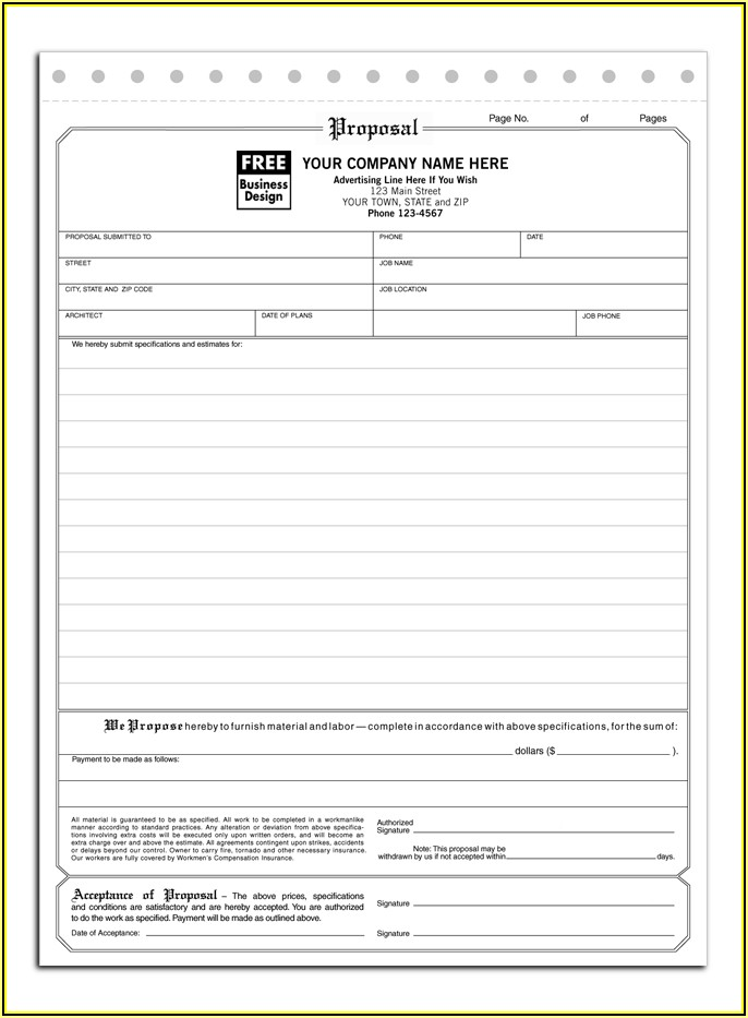 Free Contractor Proposal Template Pdf