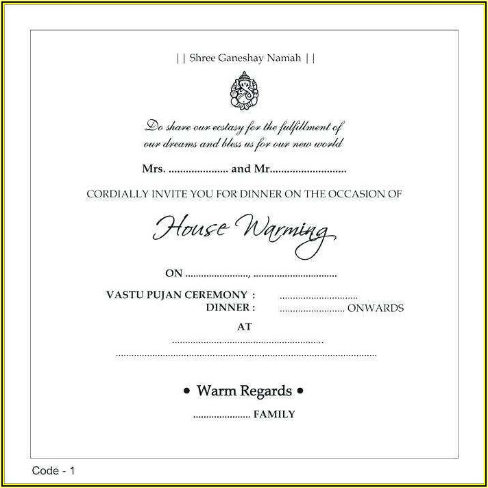 Free Dinner Invitation Sample