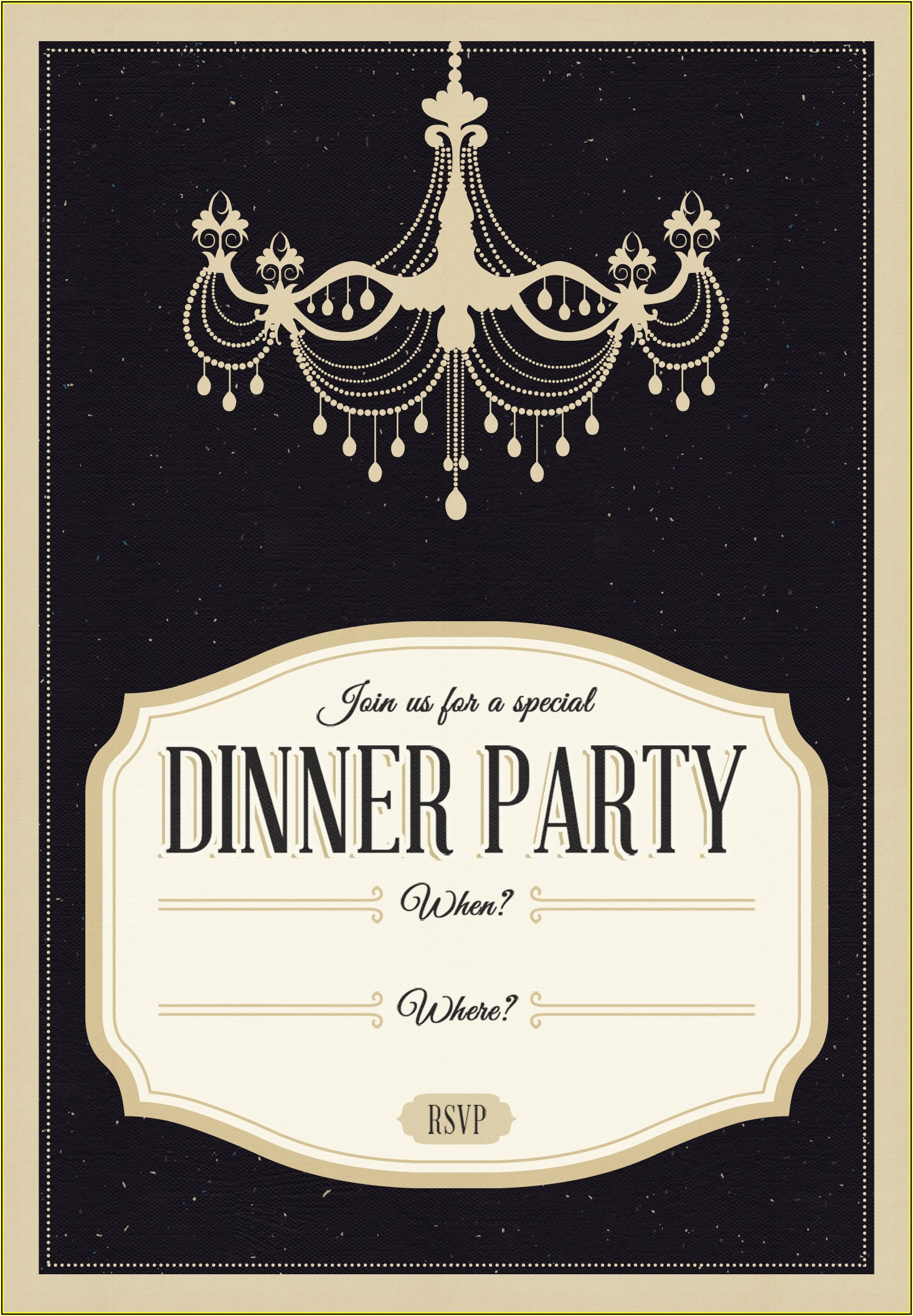 Free Dinner Invitation Template